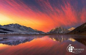 Vast Snow Lake of Pakistan