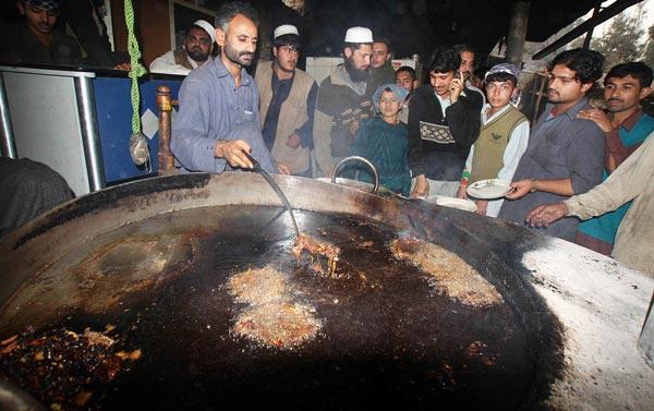 Chapli kebab in Charsadda