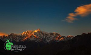 Sunset on Altar peak from Nagar