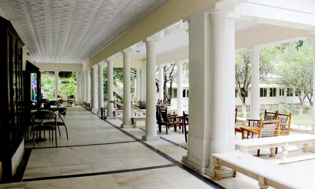 Ambiance of white palace