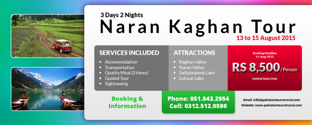 Naran kaghan 3 Days 2 Nights Group Tour