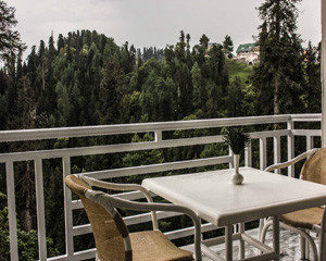 outdoor sitting in mahgul resort in changla gali