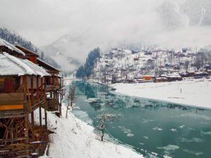 Sharda in Neelum Valley during Winter