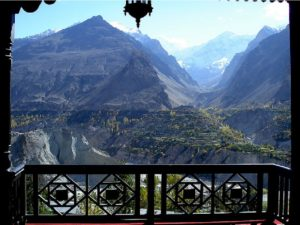 Hunza Embassy Balcony View in Karimabad Hunza