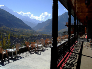 Outdoor Sitting Hunza Embassy Hotel