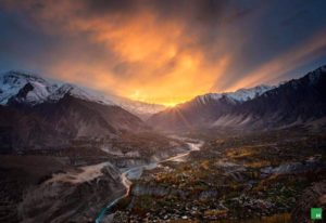 Hunza Long Shot of Valley karimabad