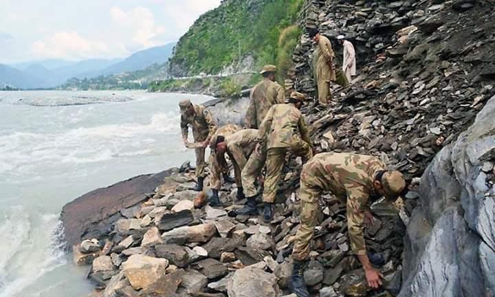 rains landslides pakistan