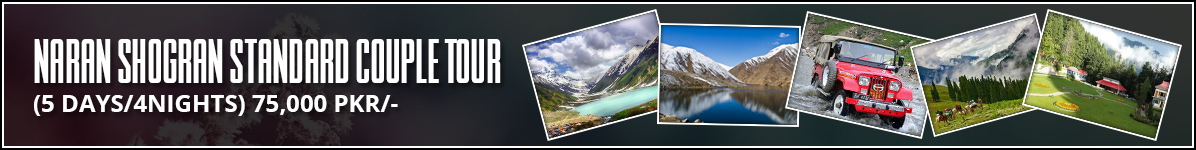 Naran Shogran Standard Couple Tour Packages from Islamabad Lahore Karachi