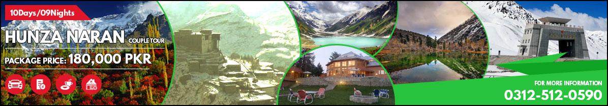 Hunza Naran Valley Couple Tour (10Days/09Nights) 180,000pkr