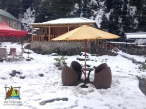 Grey Wall Cottage in Winters in Naran Valley