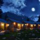 Grey wall Cottage Night View in naran valley