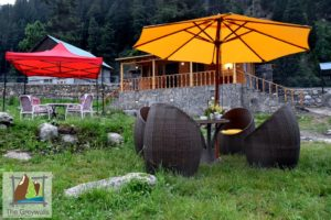 Grey wall Cottage outdoor View in naran