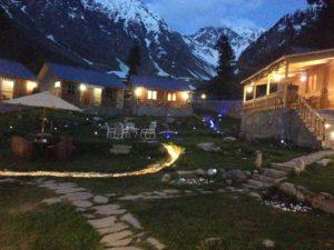 Greywall Cottage Night View in Naran Kaghan Tours