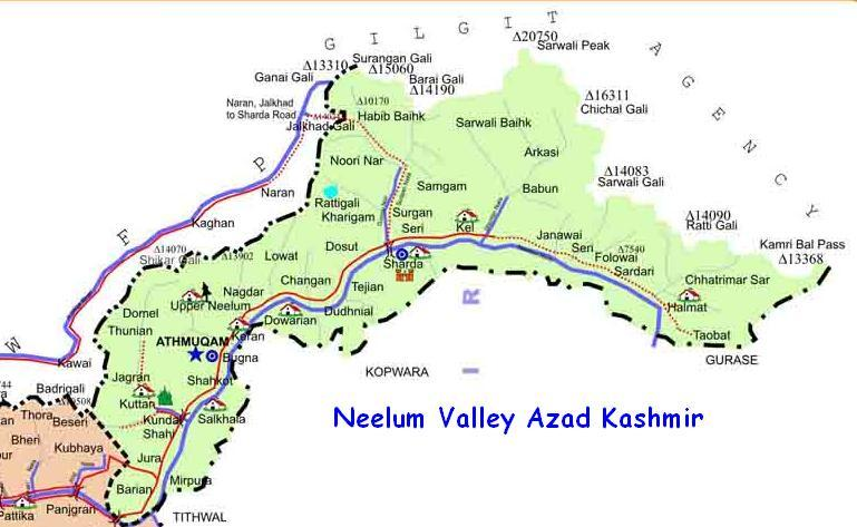Neelum Valley Map