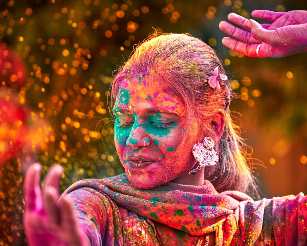Dancing at Holi in Pakistan