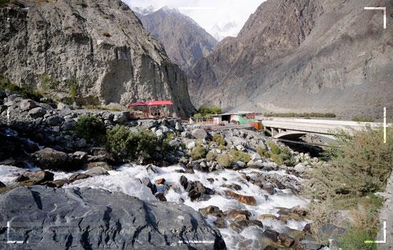 Flooding Frigid Water in Hunza Damages Karakoram Highway Image 1