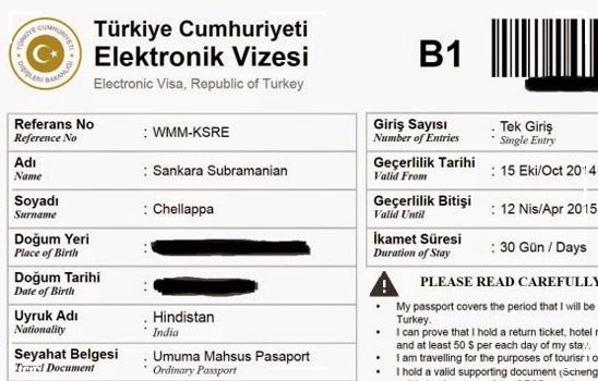 Turkish E Visa