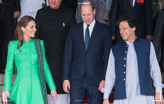 Kate and William with PM Pakistan