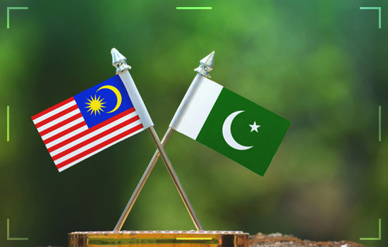Pakistan and Malaysia Flag