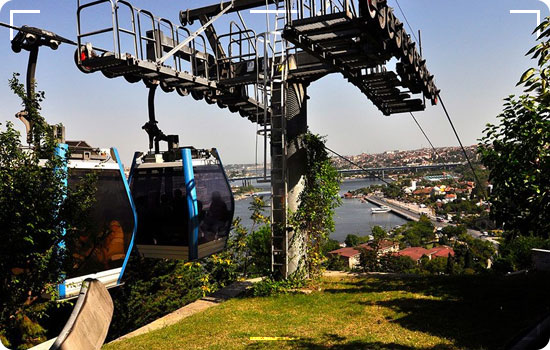 Automotive cable car in Istanbul