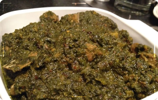 Lamb with Spinach