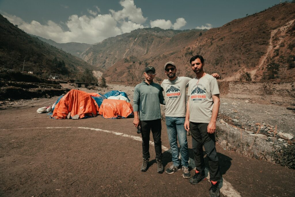 During expedition at Annapurna  mountain
