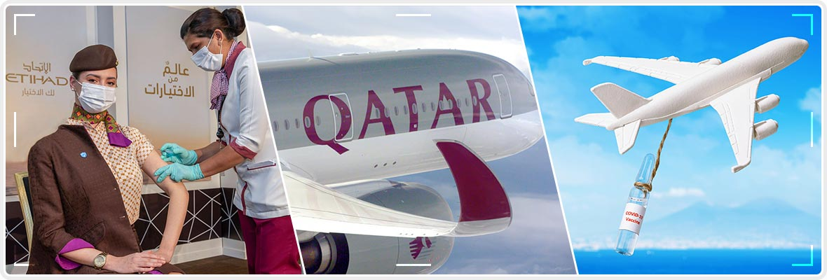 COVID-19 Vaccinated Qatar Airways First Flight Takes Off