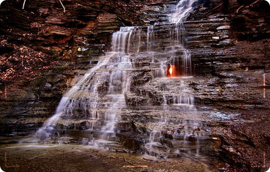 Eternal Flame Falls, USA