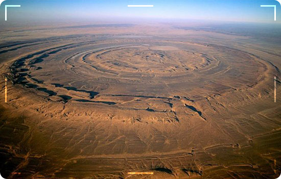 Richat structure in Mauritania