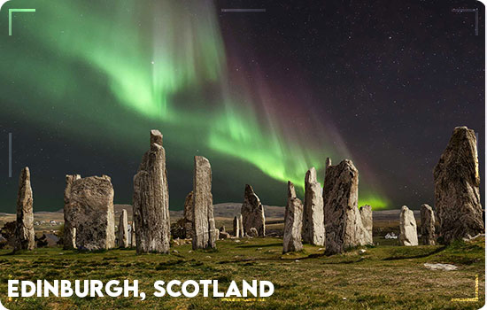 Northern Lights in Edinburgh