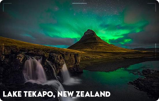 Northern Lights in Lake Tekapo